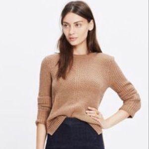 Madewell Brown Hezcomb Sweater